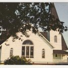 Swain Memorial Methodist Church Tangier Island, VA postcard Plastichrome photo F.W. Brueckmann 1960s