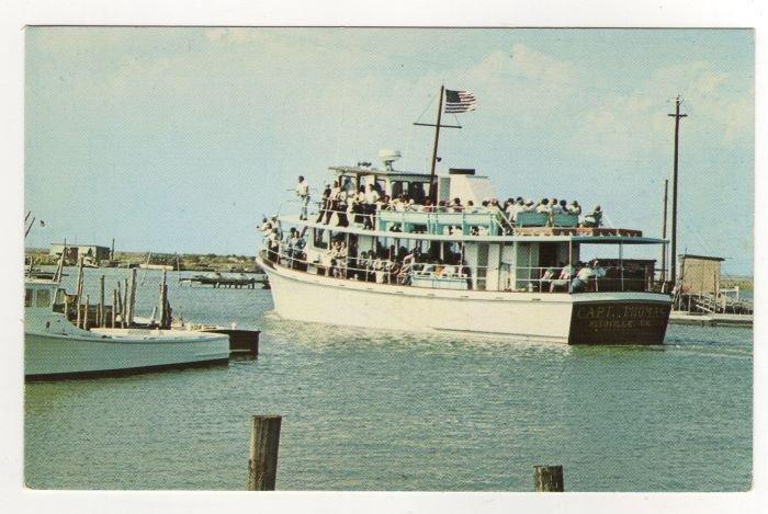 Tourist Ship Captain Thomas Reedville to Tangier Island, VA Postcard Captain Stanley Bowis #0519
