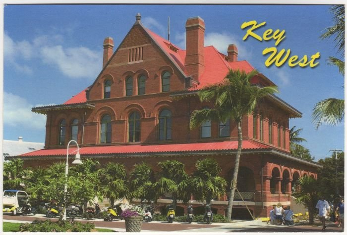Museum of Art and History Postcard Key West Florida 4D-56 FL FLA  #0524
