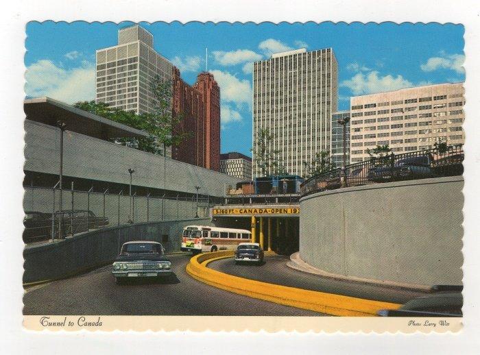 Tunnel To Canada Detroit, Michigan - Windsor, Ontario Postcard 1964 Larry Witt Photo #0538