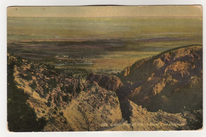 Grand View of Plains Short Line Colorado Postcard Thayer #358 divided back c. 1910s   #0540