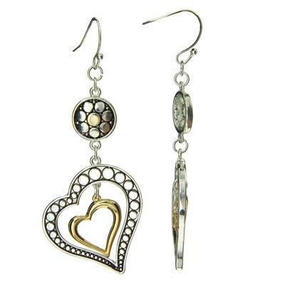Brighton Inspired Heart in Heart Earrings 870