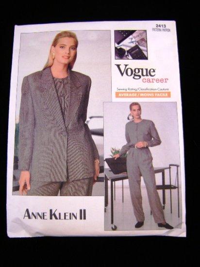 Vogue 2413 Anne Klein II Career Misses Suit Sewing Pattern