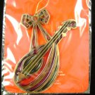 1984 Avon Christmas Ornament Jewel Tone Mandolin