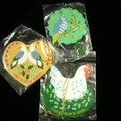 Avon Christmas Ornaments Set of 3 Twelve Days of Christmas