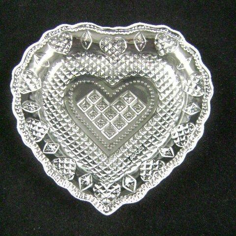 Vintage Avon Heart and Diamond Crystal Soap Dish