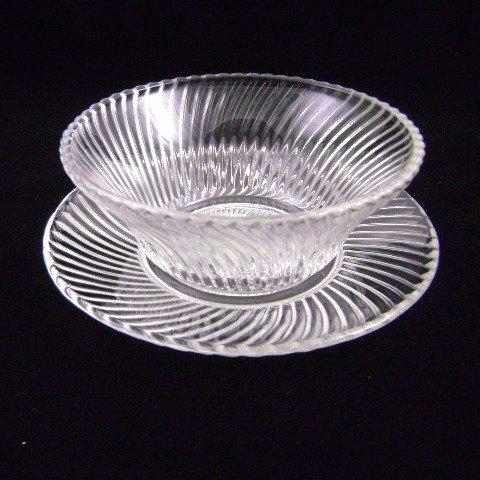 Federal Depression  Diana Crystal Bowl  Bread-Butter Plate