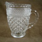 Anchor Hocking Wexford Crystal Juice Footed Pitcher