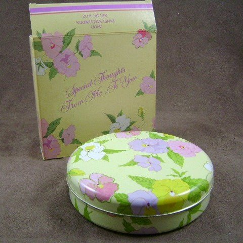1983 Avon Pansy Patch Special Thoughts from Me to You Tin