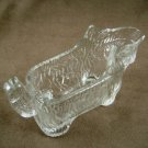 Vintage L.E. Smith Clear Glass Scotty Dog Creamer