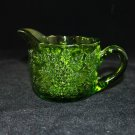 Vintage LE Smith Green Glass Creamer Grapes and Leaves