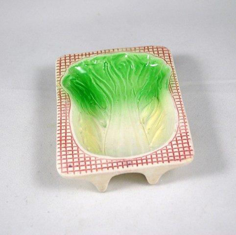 Vintage Porcelain Japan Celery Retro Spoon Rest