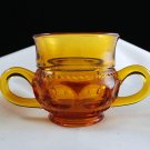 Indiana Glass Vintage Kings Crown Amber 2-Handled Sugar