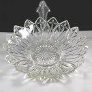 Vintage Indiana Glass Petal Large Crystal Bowl