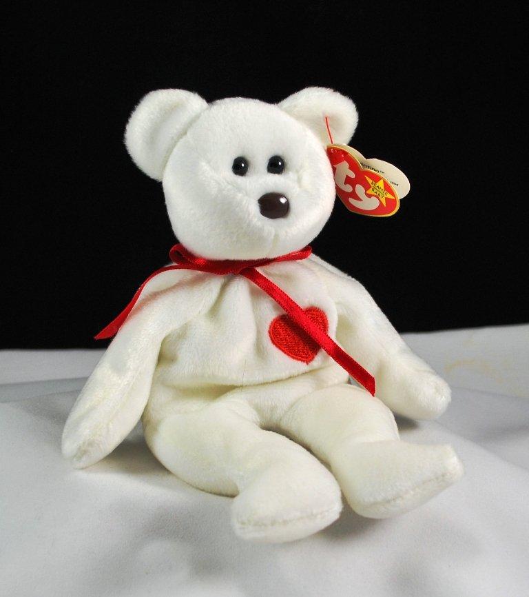 Ty Valentino Plush Bear Retired Beanie Baby 4058