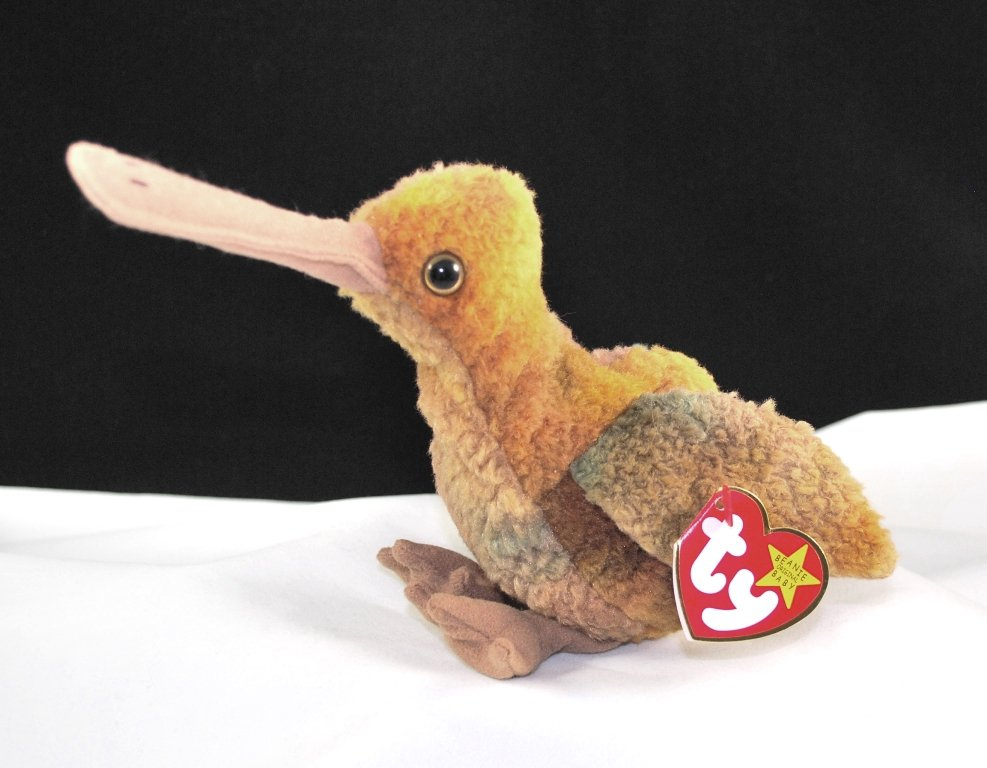 Ty Beak The Ty-Dye Kiwi Bird Retired Beanie Baby 4211