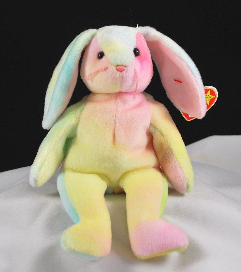 Ty Hippie The Ty-Dye Bunny Retired Beanie Baby 4218