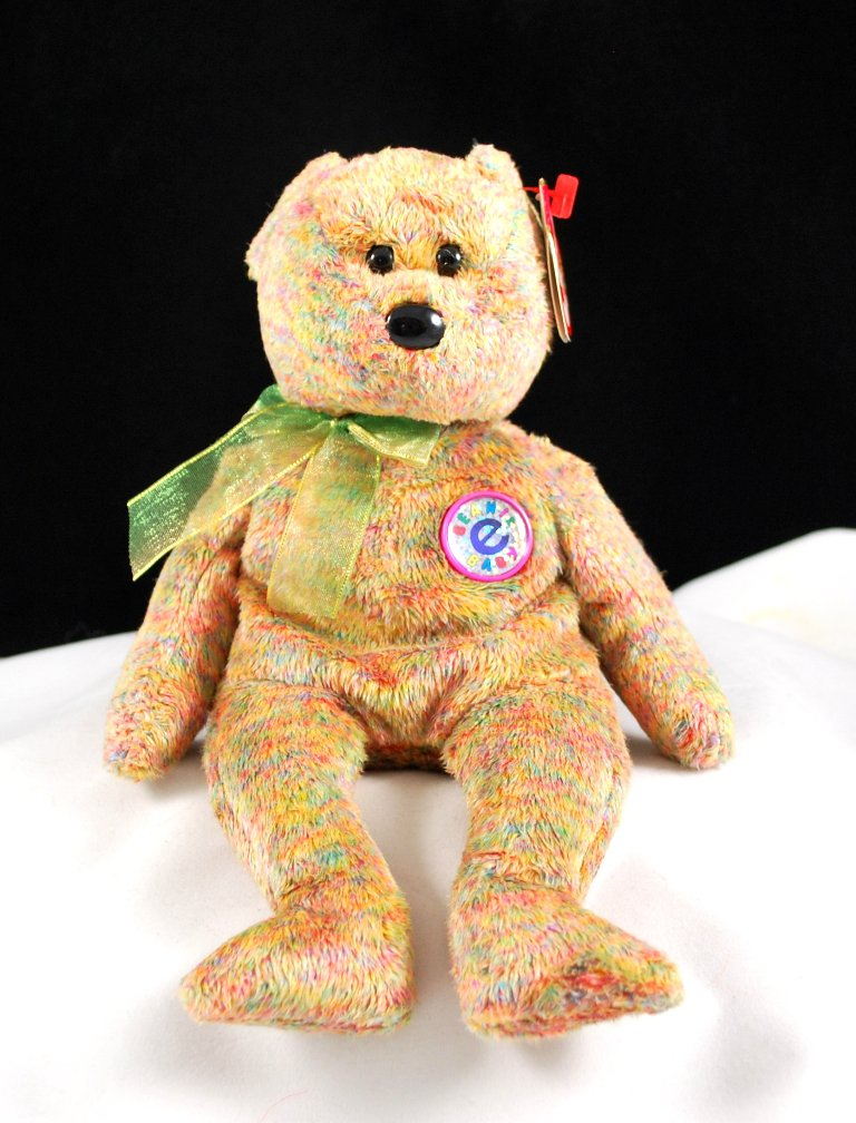 Ty Speckles The Online Only Bear Retired Beanie Baby