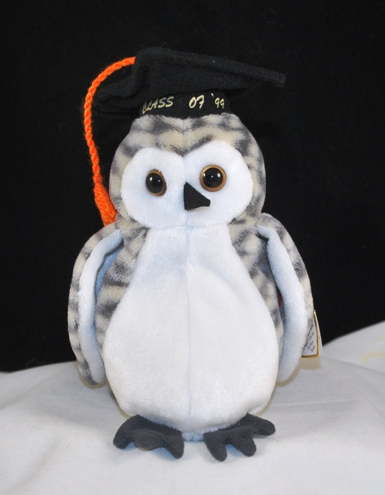 Retired Ty Wiser The Owl Beanie Baby 4238