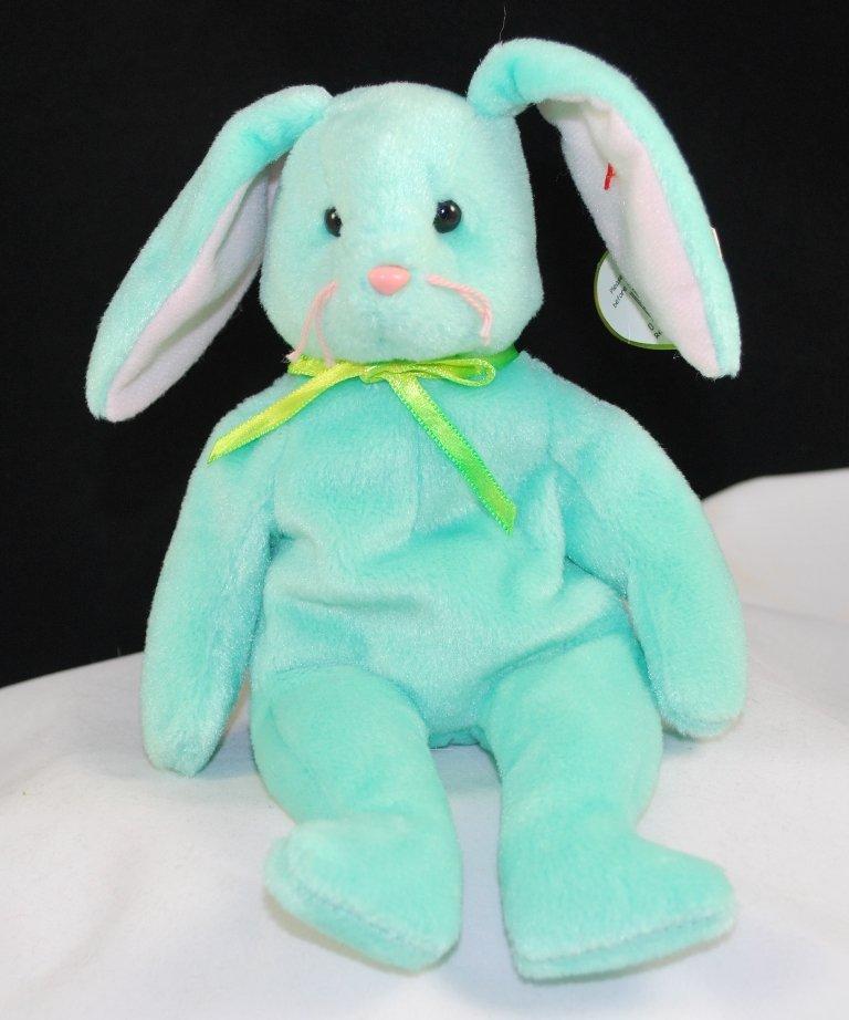 Retired Ty Beanie Baby Hippity The Mint Bunny 4119