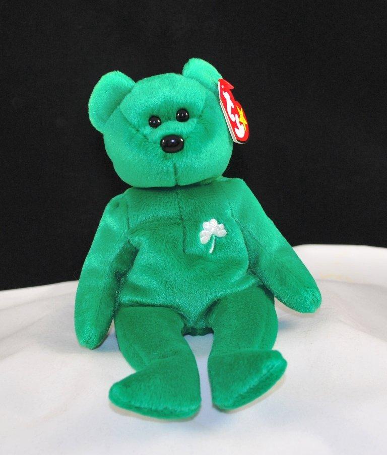 Retired Ty Beanie Baby Erin The Irish Bear 4186