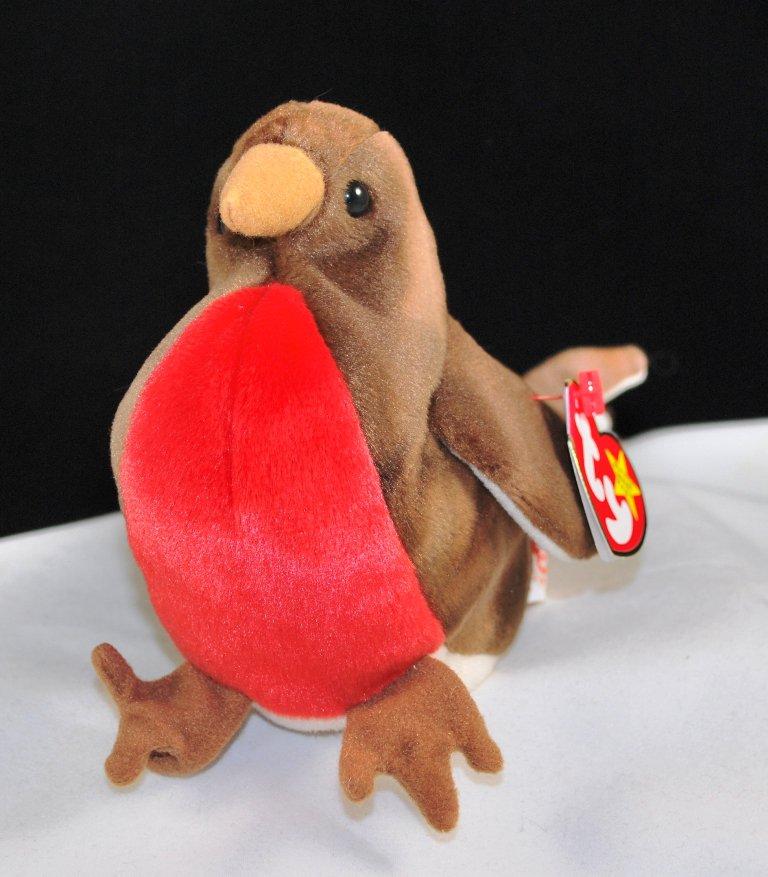 Retired Ty Beanie Baby Early The Robin Bird 4190