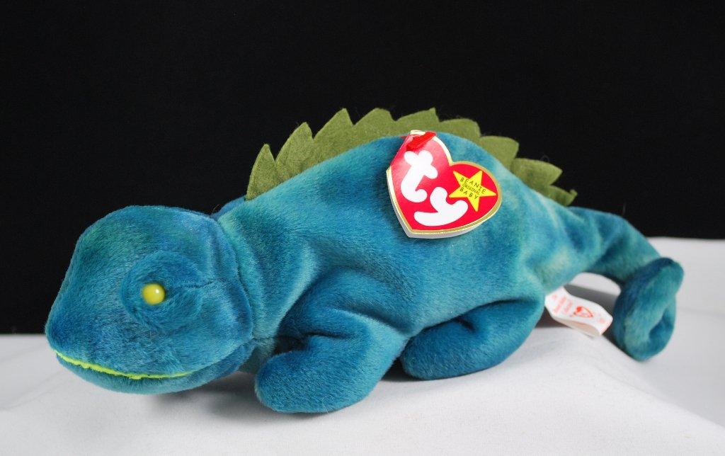 Ty Beanie Baby Iggy The Iguana Retired 4038