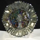Federal Pioneer Glass Bowl Smoke Iridescence Intaglio Fruit