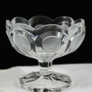 Vintage Fostoria Crystal Clear Glass Coin Jelly Compote