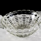 Anchor Hocking Dots & Bars Crystal Clear Bowl