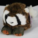 Bandit the Raccoon Puffkins by Swibco Plush Bean Bag Style 6611