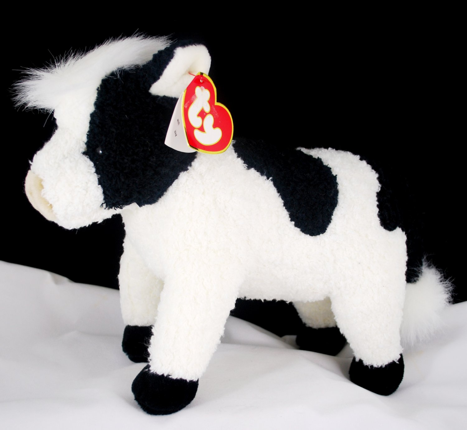 Ty Classic Plush Jersey Black n White Cow Style 8026