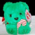 Puffkins Jingles the Green Christmas Bear Swibco Plush Style 6670