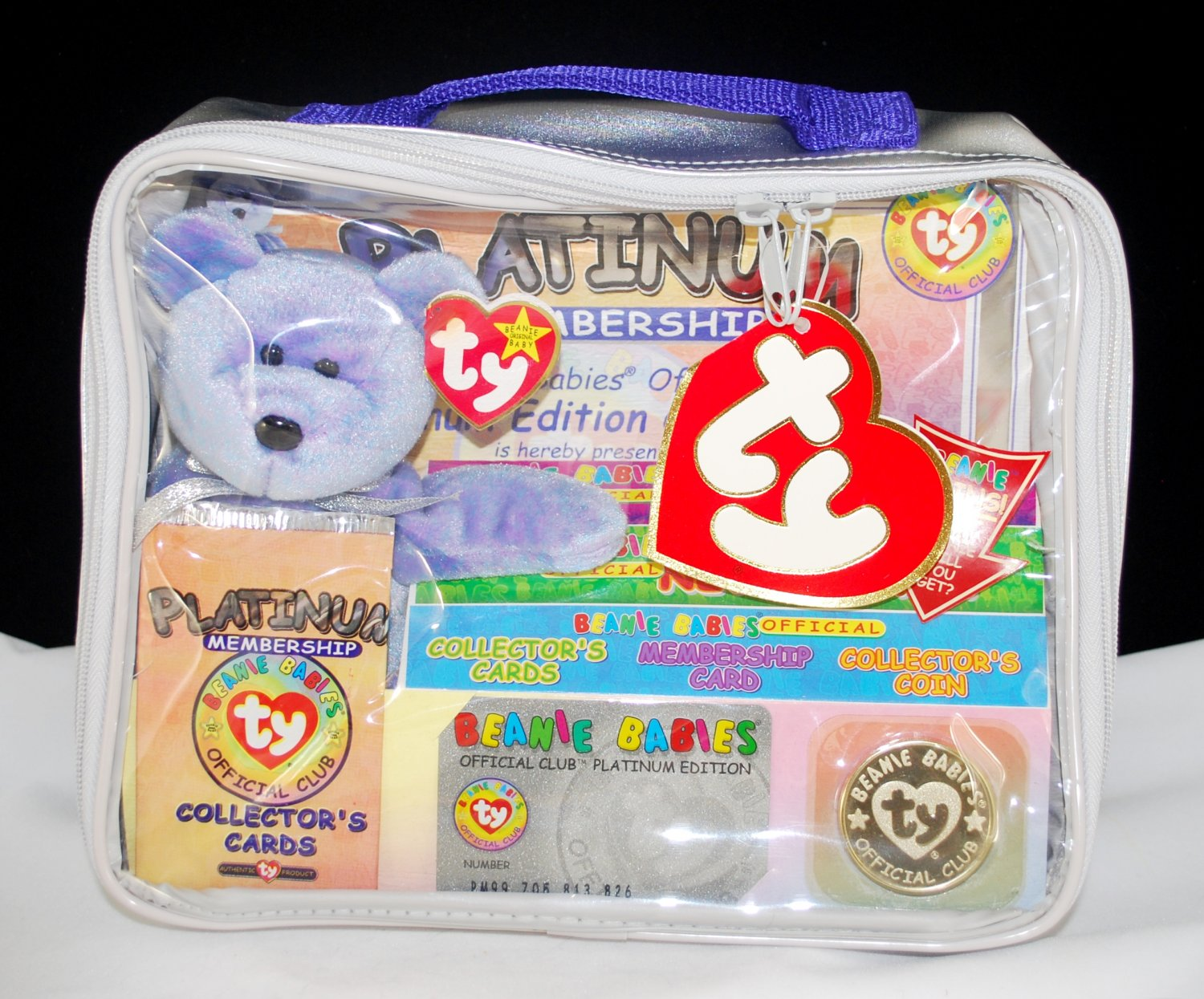 Ty Clubby Ii Beanie Babies Official Club Kit Platinum
