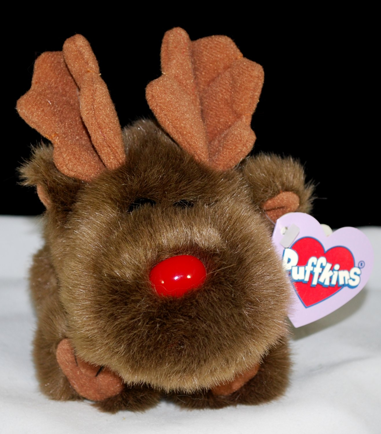 Christmas Puffkins Moosletoe the Moose Plush Swibco Style 6703