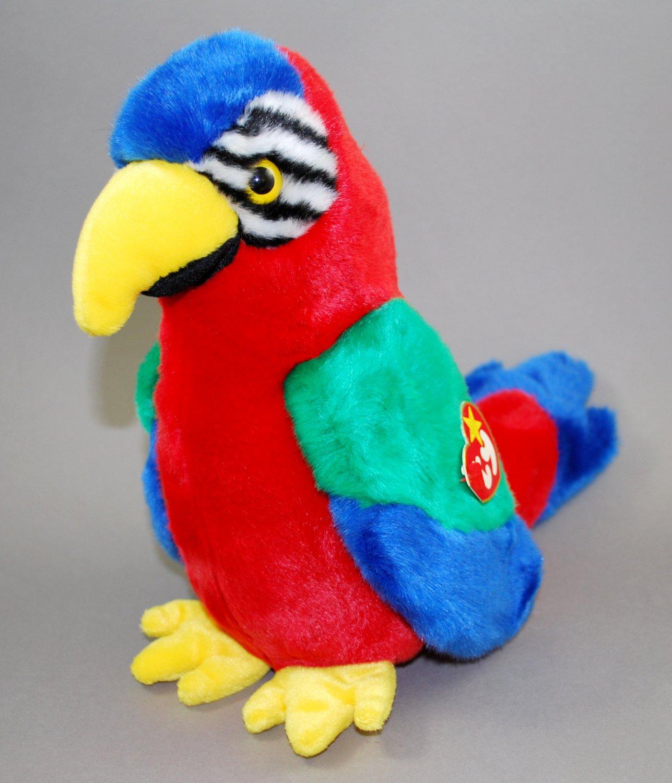 Ty Beanie Buddy Jabber the Parrot Bird Plush Style 9326