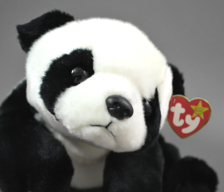 Ty Beanie Buddy Peking the Panda Bear Plush Style 9310