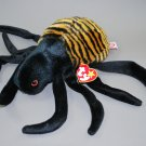 Ty Spinner the Spider Plush Beanie Buddy Style 9334