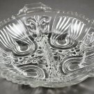Killarney Crystal Divided Relish Dish by Indiana Glass