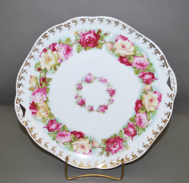 Polish Hermann Ohme Floral Porcelain Collector Plate