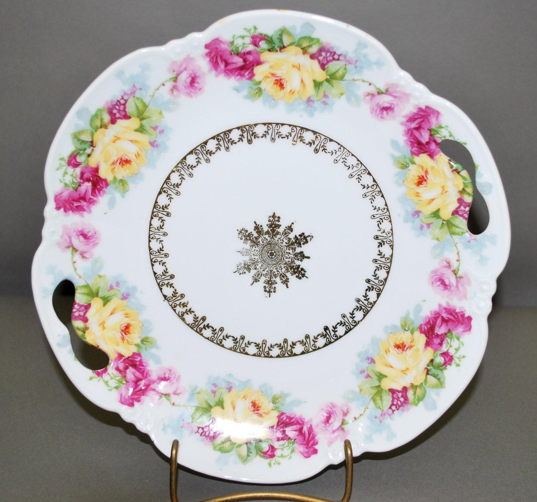 Vintage White Porcelain Rose Floral German Collector Plate