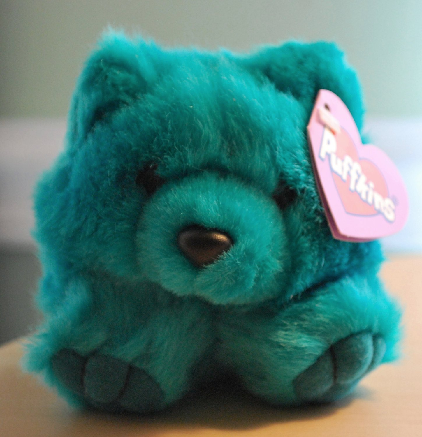 Telly the Teal Plush Puffkins Bear by Swibco Style 6673