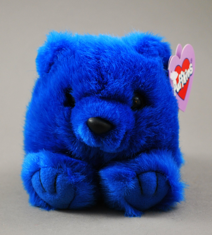 Skylar the Blue Puffkins Bear Swibco Plush Style 6671 Bean Bag