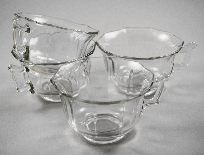 Set of 4 Cambridge Elegant Glass Crystal Decagon Cups