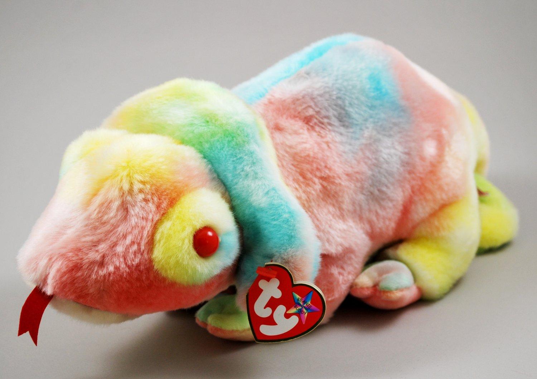Ty Rainbow The Chameleon Tie-Dye Plush Beanie Buddy Style 9367
