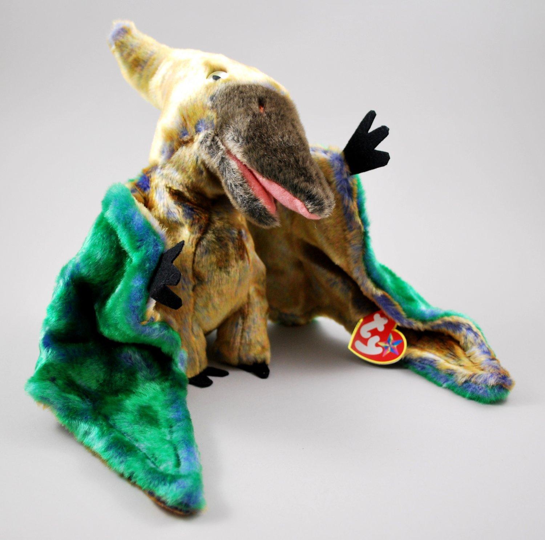 Swoop The Pterodactyl Tie-Dye Plush Ty Beanie Buddy Style 9391