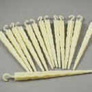 Set of 14 Glow In The Dark Vintage Luminescent Christmas Tree White Icicles