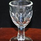 Vintage Clear Thumbprint Miniature Wine or Cordial Stemware