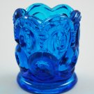 L. E. Smith Blue Moon and Stars Vintage Glass Toothpick Holder