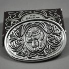 1980 Avon Western Saddle Cowboy Silvertone Belt Buckle for Men